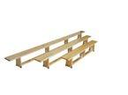 Ławka gimnastyczna 2 m nogi drewniane