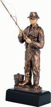 Statuetka ( figurka ) odlewana Wędkarstwo RFST2014