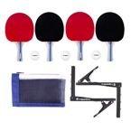Zestaw do tenisa stołowego inSPORTline Setozio - rakietki, piłeczki, siatka, uchwyty i opakowanie