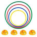 Zestaw hula hop i podstawki inSPORTline Hulaho 40-70 cm