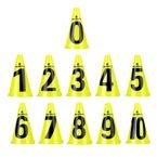 Zestaw pachołki treningowe inSPORTline Numeric 23 cm 11 sztuk