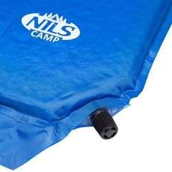 Mata samopompująca z poduszką Nils Camp NC4347 Ciemno Niebieska 186x53x3 CM